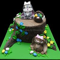 Easter Bunnies Cake by Cakes by Vivienne