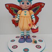 Butterfly girl Cake