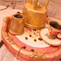 Coffee set cake