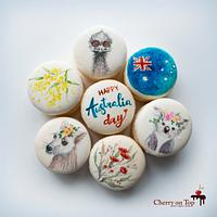 Australia day macarons by Cherry on Top Cakes