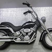 Flat Cruiser Motorcycle Cake