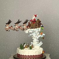 Christmas fruit cake with royal icing decorations!...🦌🎁 by More_Sugar