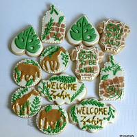 Safari themed baby shower cookie set