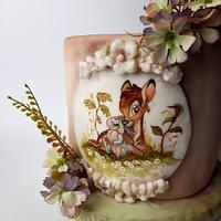Handpainted Bambi by Fatiha Kadi
