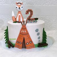 Fox 🦊 cake