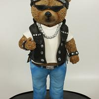 Motorcyclist- teddy bear challenge  by Olina Wolfs