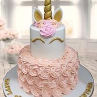 Unicorn Cake in Cream