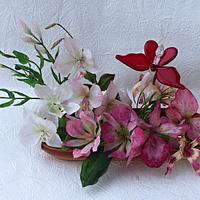 Orchids from wafer paper
