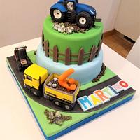 tractor cake
