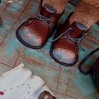 Steampunk Collaboration Teddy Bear Pirate by Creme & Fondant