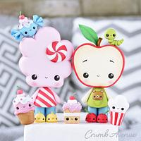 Cotton Candy & Apple Cake Topper