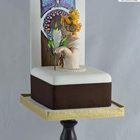 Feather - Art Nouveau Meets the Cake Artists - A Cake Collective collaboration by Cake Angel by Marisa Kemp