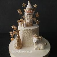 Gold Santa Cake by Royalcake