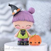 Cute Witch Cake Topper