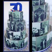 70 years of memories cake by Sugar by Rachel