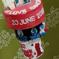 Upside Down Anniversary Cake