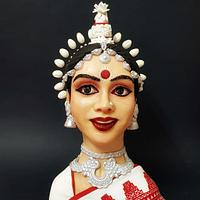 Odissi dancer  - Magnificent Bangladesh  an international cake art collaboration