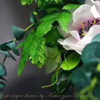 Booho tambourine wafer paper flowers