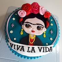 "Frida Khalo "" Viva la Vida"" cake"