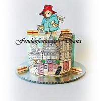 Paddington bear themed cake