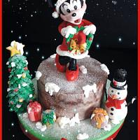 Happy christmas Minny cake