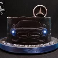 Hand painted Mercedes with lights