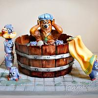 Grizzy and The Lemmings - 3D cake