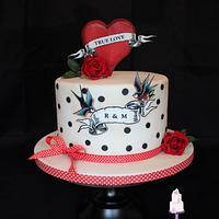 Rockabilly weddingcake