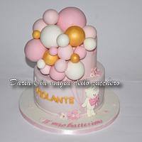 Balloon cake ...and teddy bear