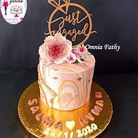 marbel engaged cake