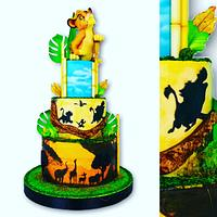Roi lion cake lover