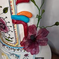 """""""Coimbra Cake""""- The Art of Pottery Cake Collaboration   by Cristina Arévalo- The Art Cake Experience"""