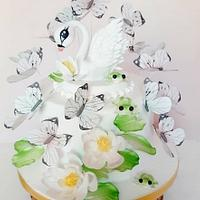 Little swan cake