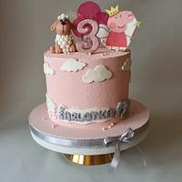 Birthday cake for baby girl by Jitkap