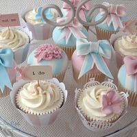 Pretty Pastel Wedding Cupcake Tower