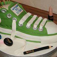 Converse Allstar Boot Cake