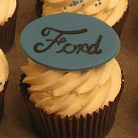Ford Fan Cupcakes by Becky Pendergraft
