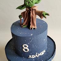 Yoda StarWars cake