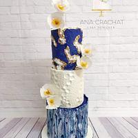 """Perseverance"" Wedding Cake"