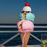 An Icecream cake