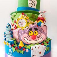 torta ''Alice nel paese delle meraviglie'' by thesugarfamily