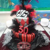 Masquerade Topsy Turvy Cake