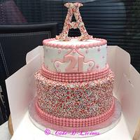 21st Sprinkles Cake