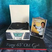 Retro record player and cliff richard