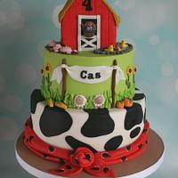 Fun farm cake