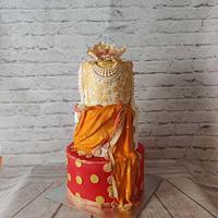 Jewelled Sari Cake