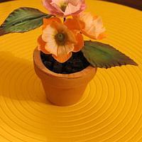 Flower topper by Nancy T W.