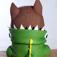 Dino Dog Cake by Natalia Casaballe