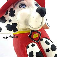 Marshall Paw patrol 3d cake by My little cakes