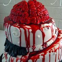 Sweet 16 Zombie Apocalypse Cake